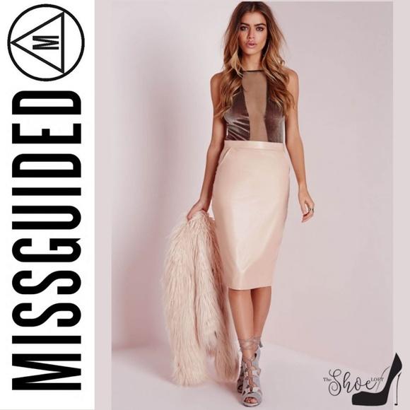 Missguided Tops - Missguided: Mesh Panel Velvet Bodysuit Brown